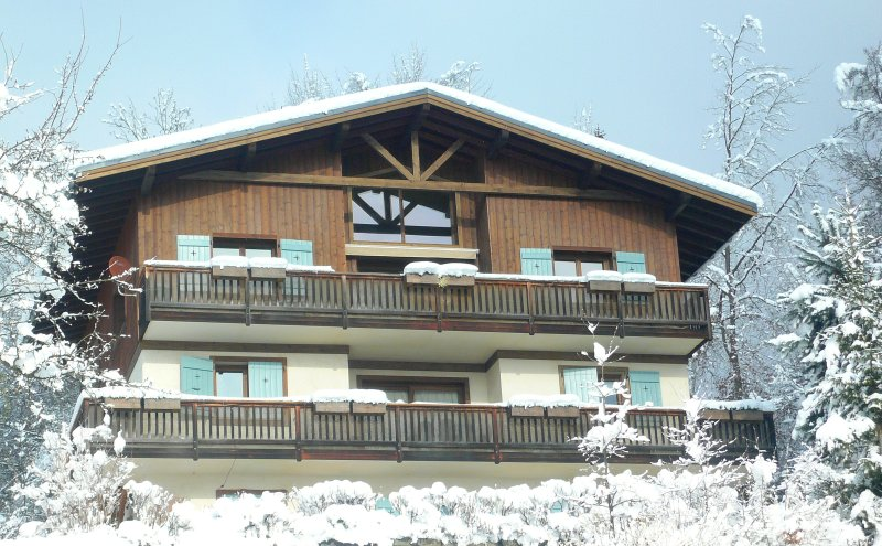 Beautiful 3-bedroom chalet apartment, Mont Blanc view, holiday rental in Chamonix
