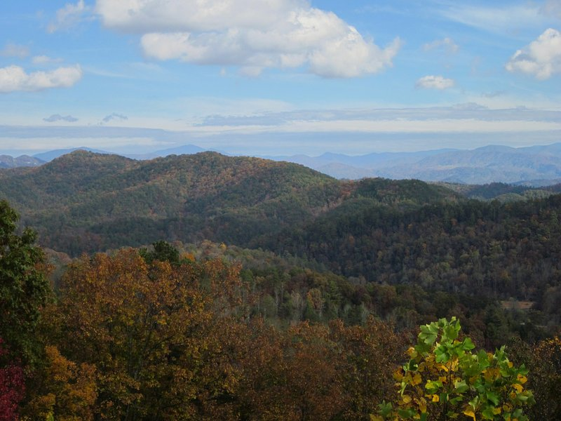 Looking into Smoky Mountain National Park