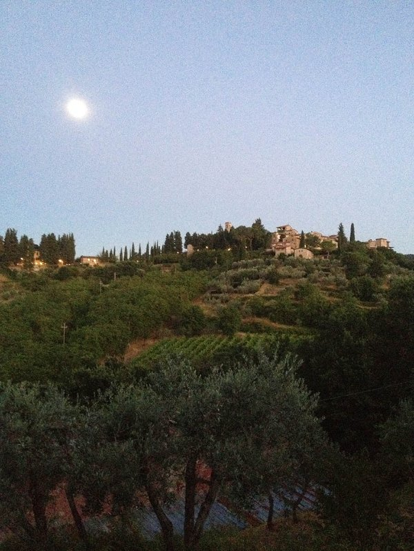 Moon over Montefioralle