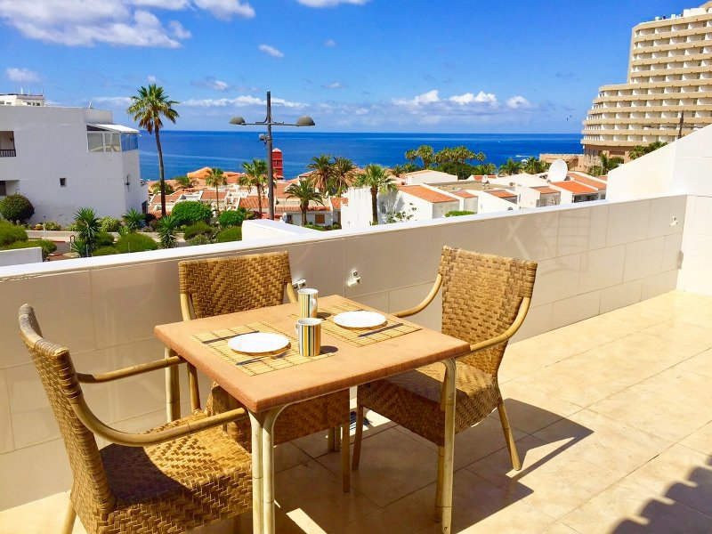Private double terrace with fantastic views of the Atlantic Ocean