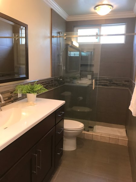Upgraded bathroom