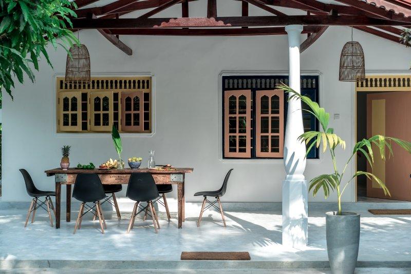 terraço privado com grande mesa de jantar para todos vocês!
