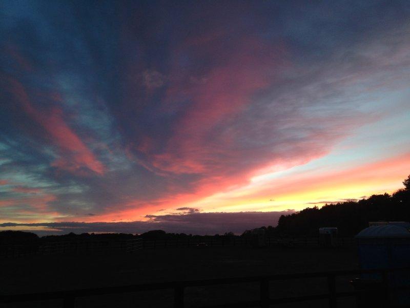 Zelfde zonsondergang gewoon even later!