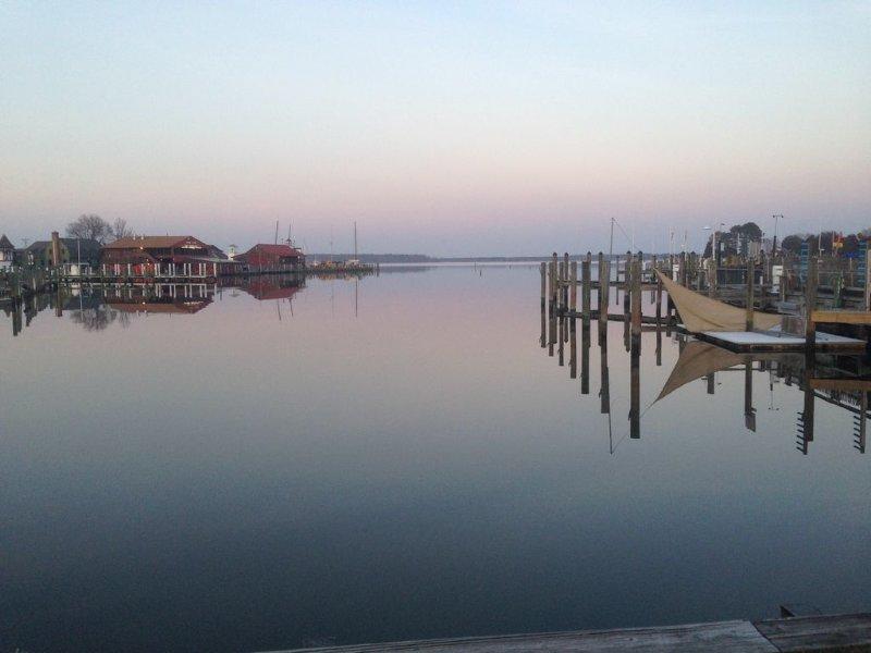 Uitzicht op de haven van park