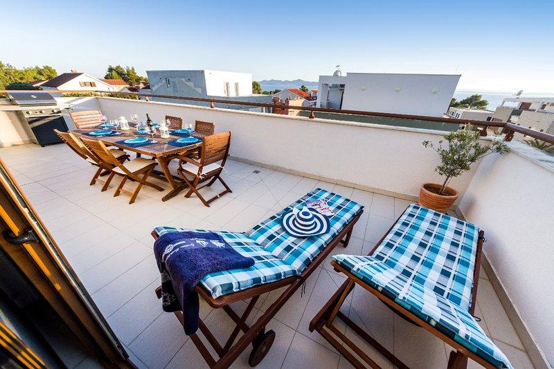 Breathtaking Seaview Penthouse in Petrcane near Zadar, holiday rental in Petrcane