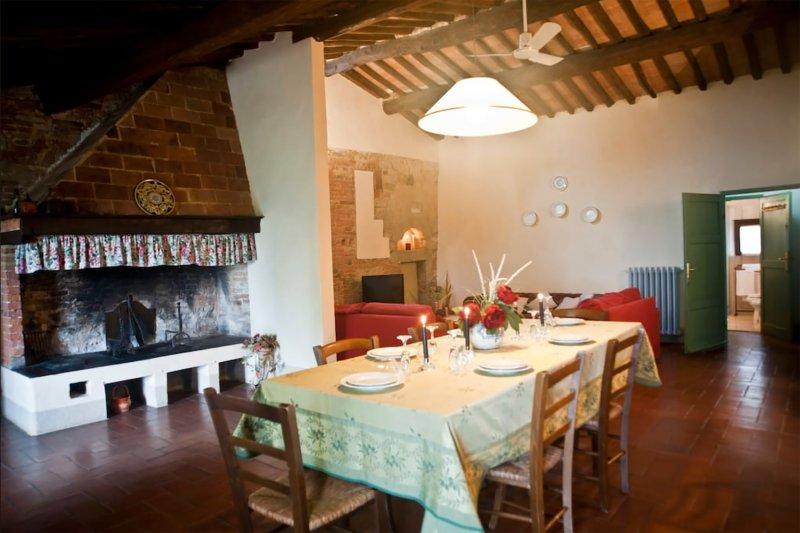L'Olmo - ampio appartamento in casale del 500 - Agriturismo  Podere San Giorgio, holiday rental in Montefoscoli