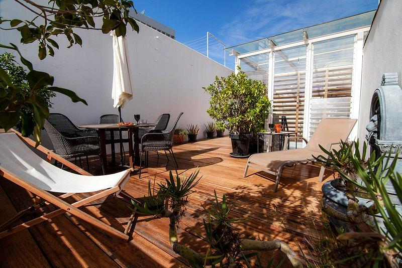 Sunny private terrace!