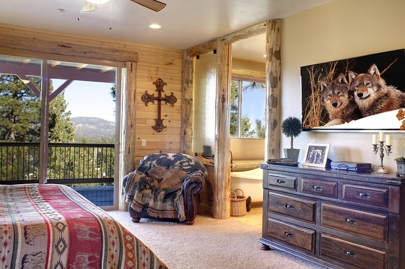Master bedroom with a delightful view