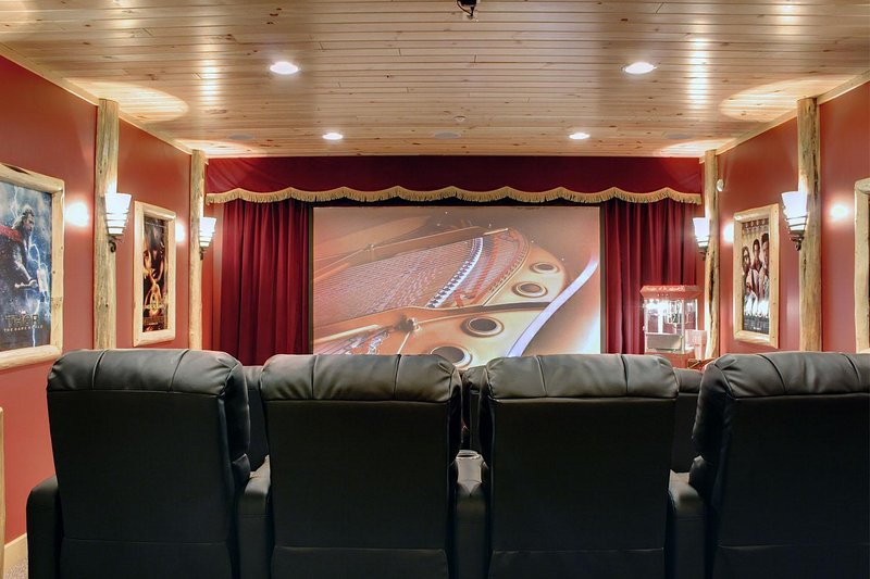 Spectacular home theater on the lower level