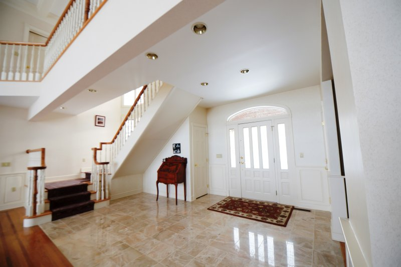 Marble entrance and main stair case