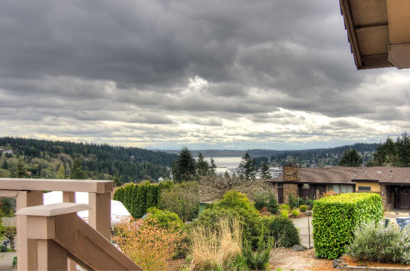 Gorgeous views from the property, even when it is cloudy!
