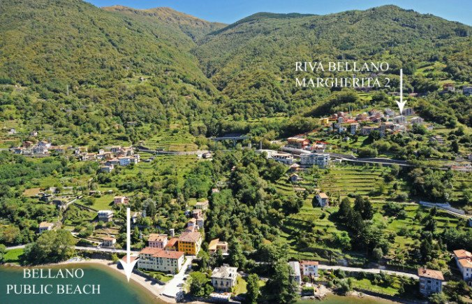 Vista aérea de la ubicación de la residencia