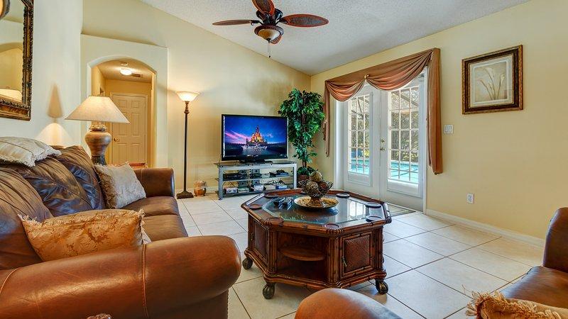 """De familie kamer, met uitzicht op het zwembad dek. Met een 55"""" HDTV Netflix, HBO, Showtime en sport."""