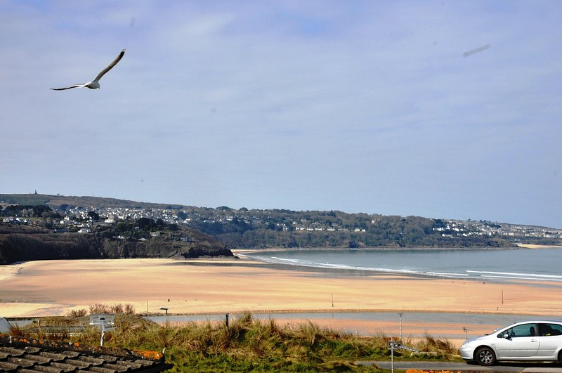 Views of Carbis Bay & St Ives beyond from Lounge window