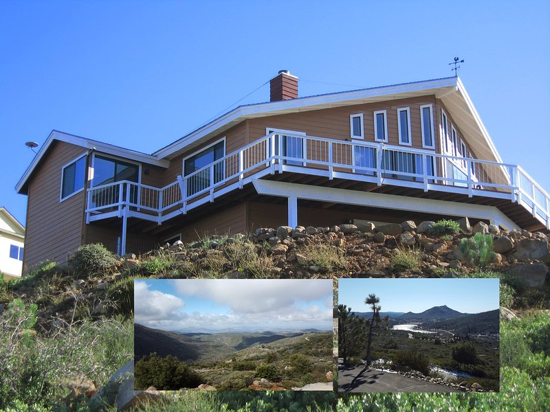 House overlooks Lake Cuyamaca and the Pacific Ocean