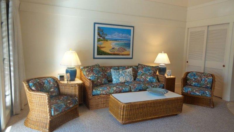 Confortable et propre! Profitez du temps calme dans la salle de séjour ou de regarder le nouveau téléviseur à écran plat
