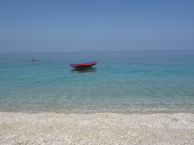 Swim in Agioi Saranta beach in less than 5min drive