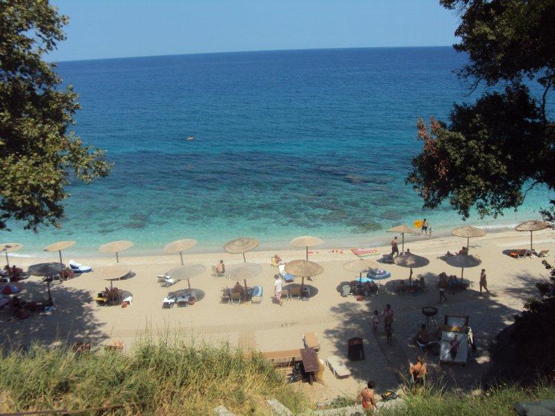 Plaka beach within 10min drive