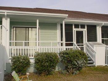 Terrasse, véranda, cour, Arbre, végétation
