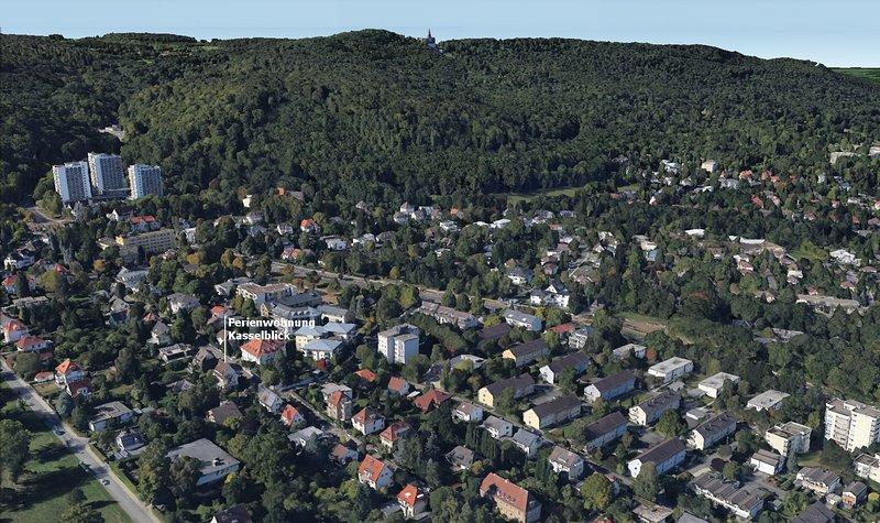 image 3D de l'excellent emplacement à proximité du parc de montagne UNESCO Wilhelmshöhe
