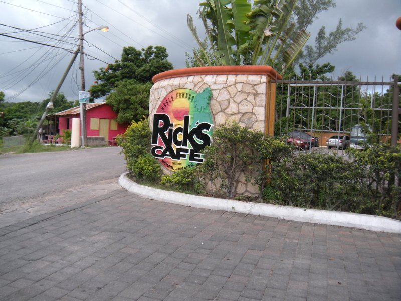 World famous Ricks Cafe, one of Negril's top attractions. Travel by land or sea to enjoy the sunset