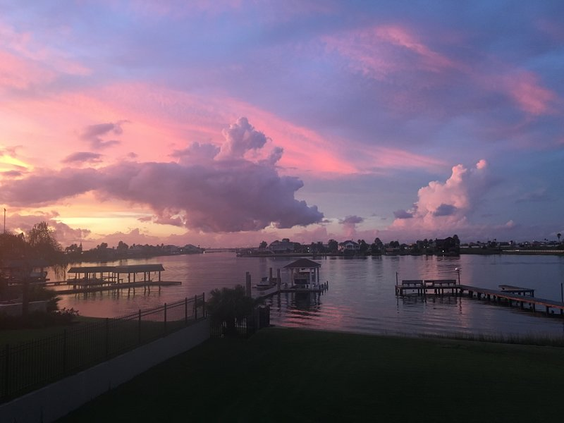 Beautiful sunsets from the Crashboat Camp Bayside