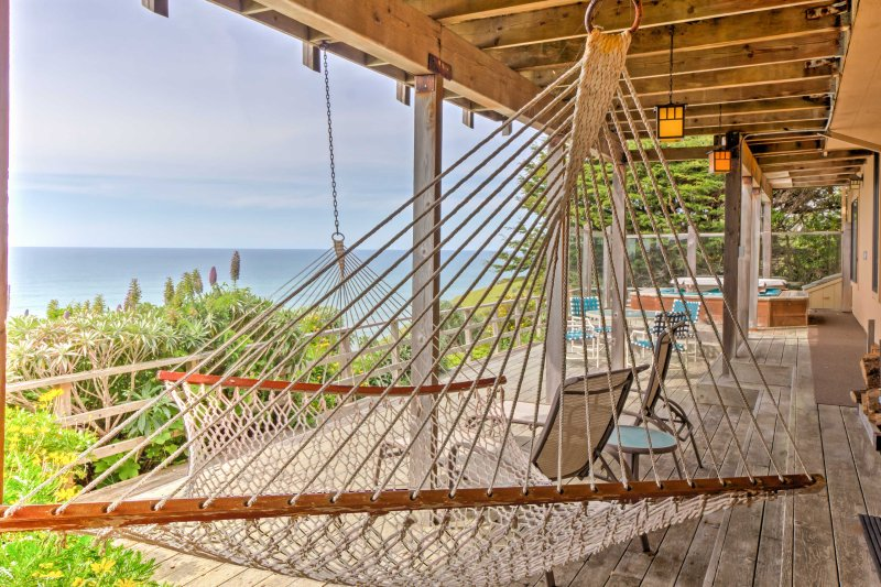Sway in the breeze on the hammock.