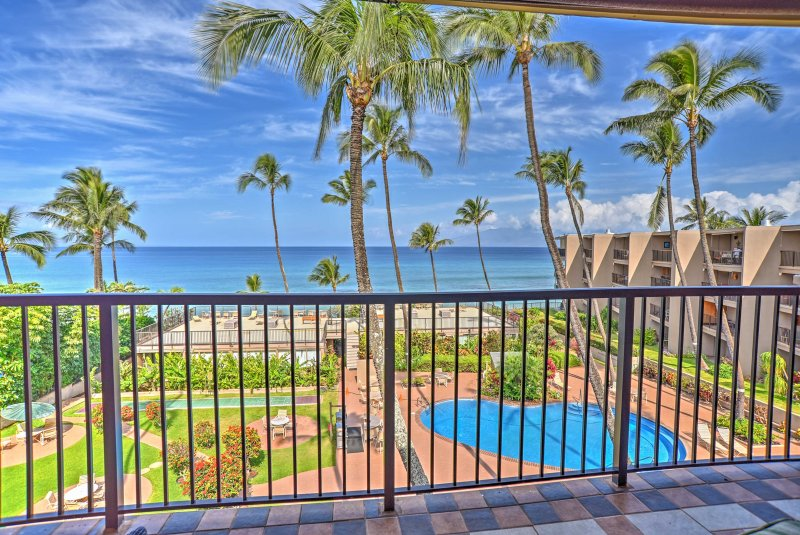 Enjoy the coasts of Lahaina from this beautiful 4th floor 1-bedroom, 1-bathroom vacation rental condo!
