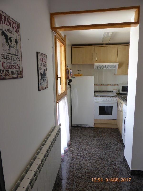 Views keuken van de eetkamer