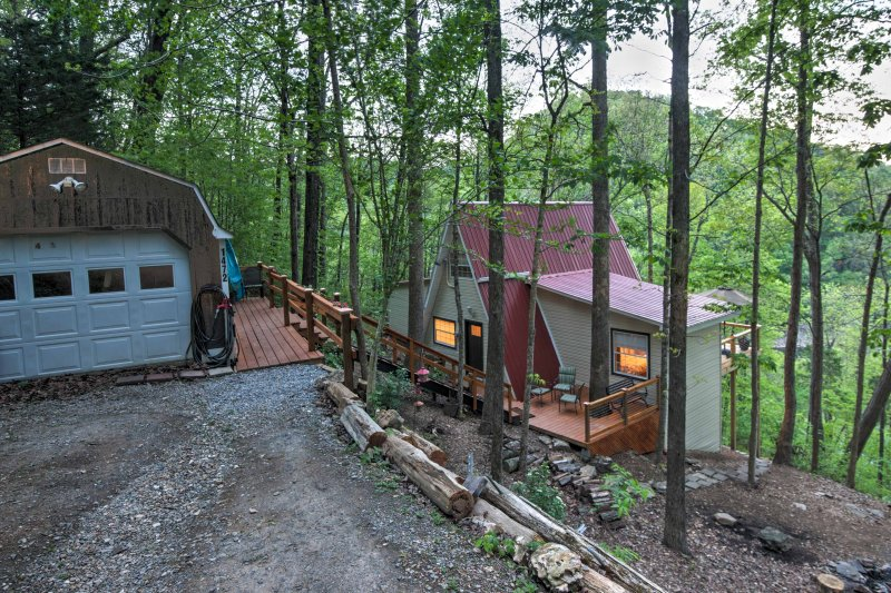 This unique A-frame style home is the ultimate home-away-from-home!