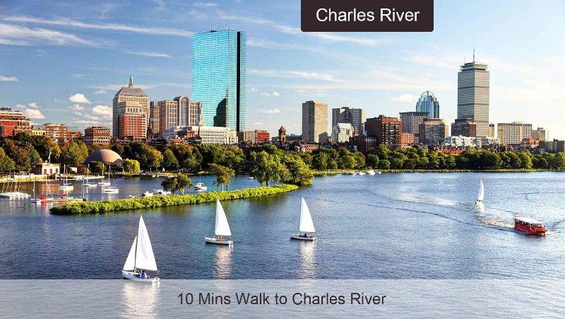 10 minutos a pé Charles River