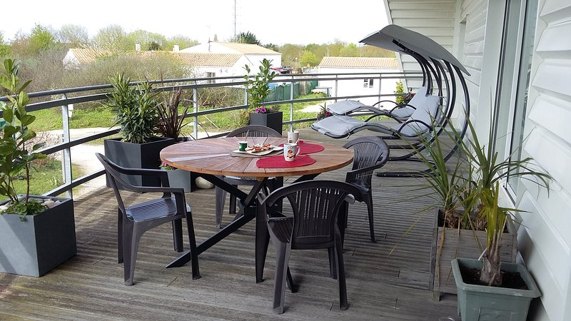 Balcony terrace with barbecue