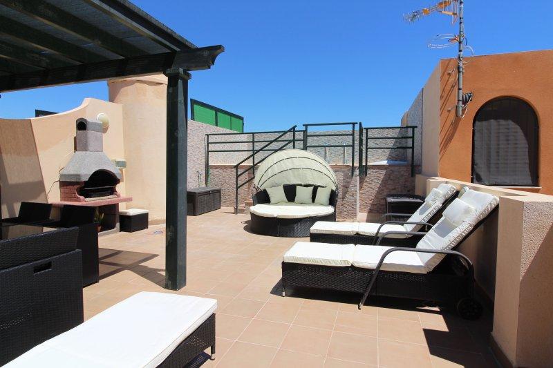 Terrazza con piscina privata