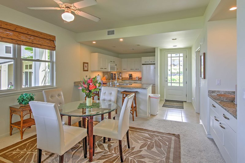 Gather with friends and family around the elegant dining room table for delicious home-cooked meals and family games.