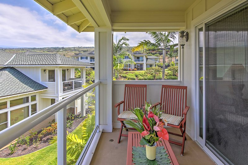 Sip your morning coffee on the master bedroom balcony.