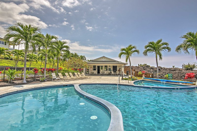 Spend days splashing around the gorgeous community pool area and nights lounging in the hot tub.