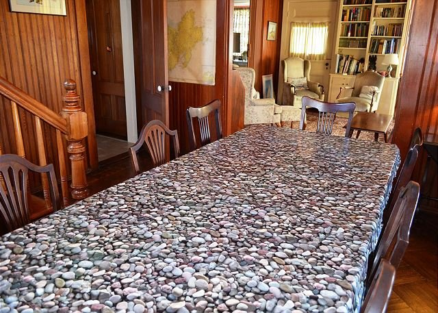 Dining room open to the living room.