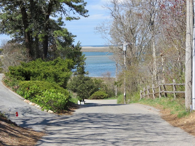 Here's the view from the driveway entrance, just a quick walk down the road to Nauset Inlet