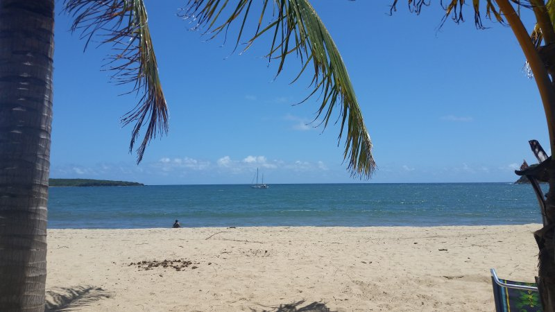 Busy Day at Famous Sun Bay Beach, just a short walk