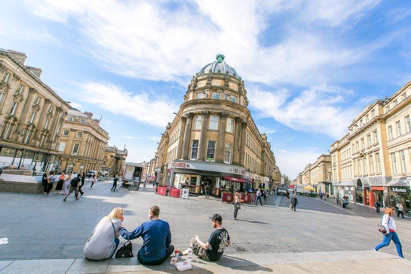 Newcastle city centre.
