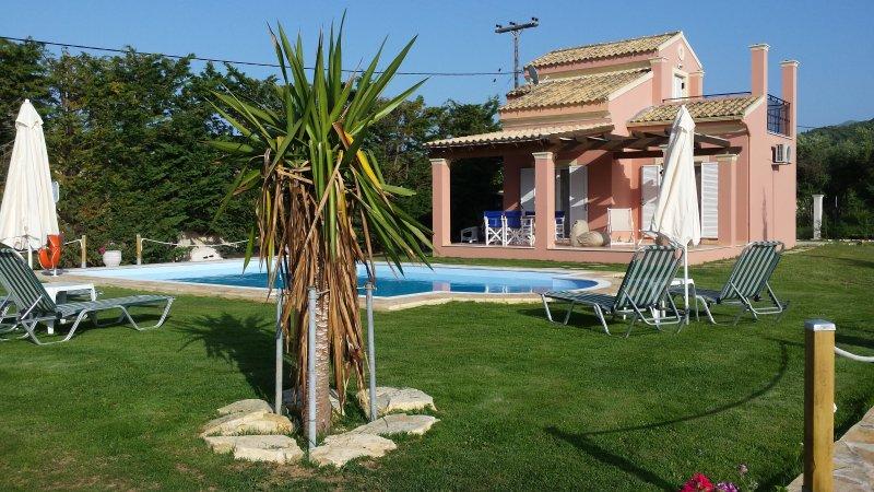 Villa Filia no 5 with pool in Almiros beach, Acharavi, Corfu., holiday rental in Corfu