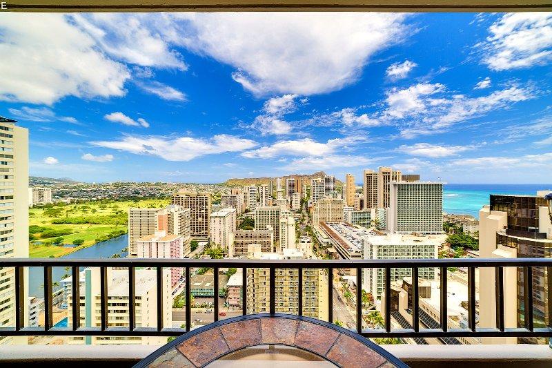 Stunning views over Waikiki including Diamond Head and Ocean views.