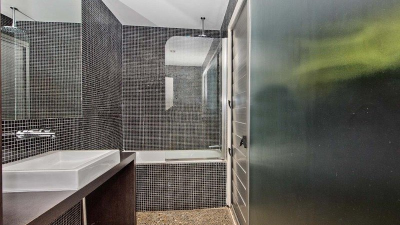 Lower Level - Bathroom with Shower over Bath. Separate Toilet