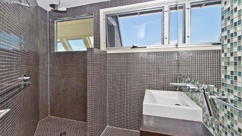 Upper Level - Bathroom with Rain Shower and Views