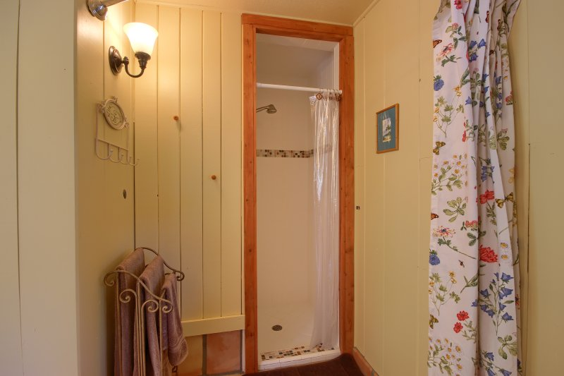 Shower in cottage