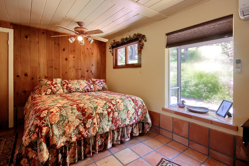King bed in cottage