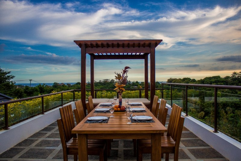Rooftop with a stunning view of the Ungasan Hill and Indian Ocean