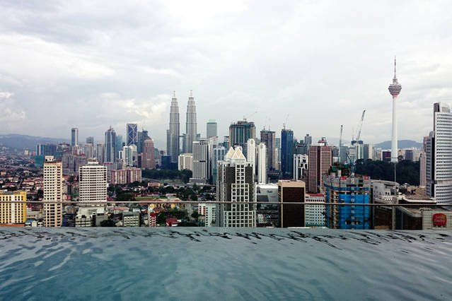 Day view from the infinity pool