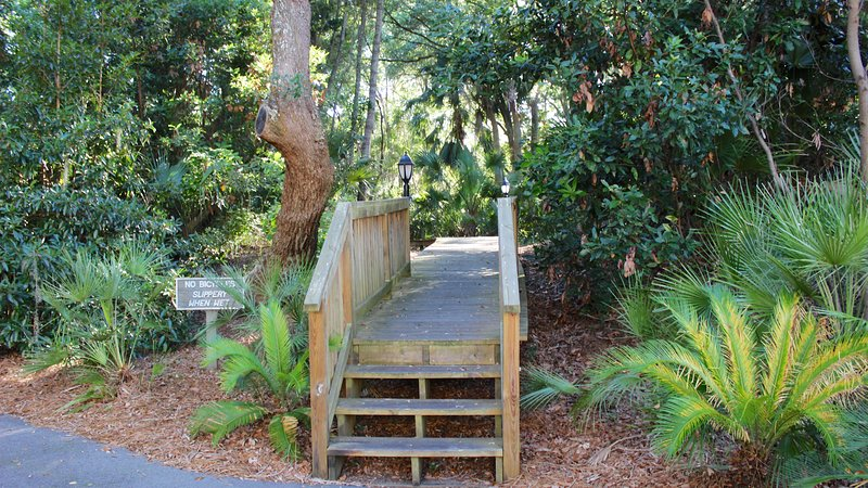 Take the boardwalk toward the other Spinnakers and beaches.