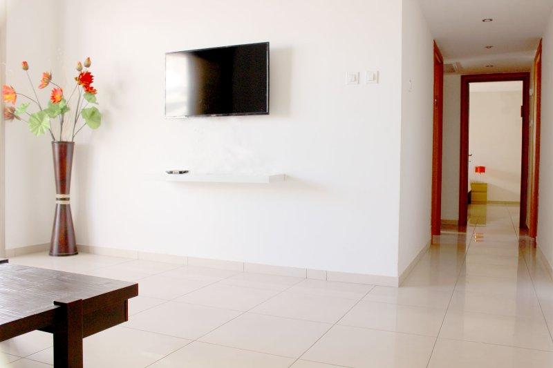 Living sala de TV por cable